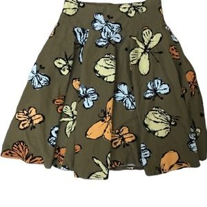 Anthropologie Fei Green Corduroy Butterfly Skirt 2